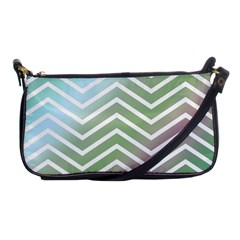 Ombre Zigzag 02 Shoulder Clutch Bags by snowwhitegirl