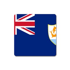 Flag Of Anguilla Square Magnet by abbeyz71