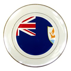 Flag Of Anguilla Porcelain Plates by abbeyz71