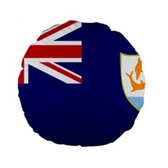 Flag Of Anguilla Standard 15  Premium Flano Round Cushions by abbeyz71