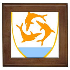 Coat Of Arms Of Anguilla Framed Tiles by abbeyz71