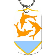 Coat Of Arms Of Anguilla Dog Tag (one Side) by abbeyz71
