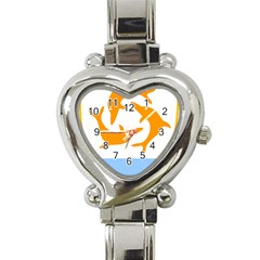 Coat Of Arms Of Anguilla Heart Italian Charm Watch by abbeyz71