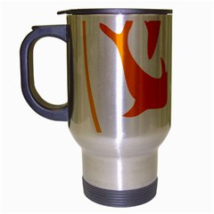 Coat Of Arms Of Anguilla Travel Mug (silver Gray) by abbeyz71