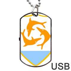 Coat Of Arms Of Anguilla Dog Tag Usb Flash (one Side) by abbeyz71