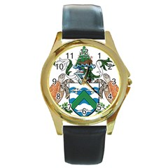 Flag Of Ascension Island Round Gold Metal Watch by abbeyz71
