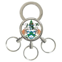 Flag Of Ascension Island 3 Ring Key Chains by abbeyz71