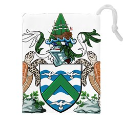 Coat Of Arms Of Ascension Island Drawstring Pouches (xxl) by abbeyz71