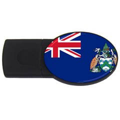Flag Of Ascension Island Usb Flash Drive Oval (4 Gb) by abbeyz71