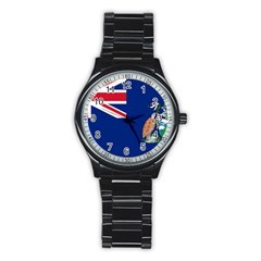 Flag Of Ascension Island Stainless Steel Round Watch by abbeyz71