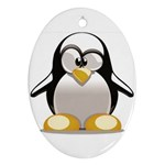 Tux Linux hacker custom Ornament (Oval)
