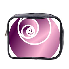 Rose Mini Toiletries Bag 2 Side by Jylart