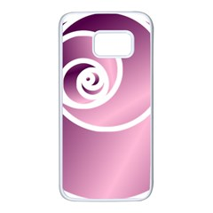 Rose Samsung Galaxy S7 White Seamless Case by Jylart