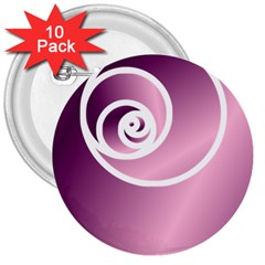 Rose  3  Buttons (10 Pack)