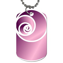 Rose  Dog Tag (one Side) by Jylart