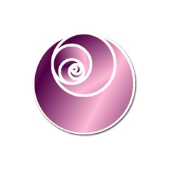 Rose  Magnet 3  (round) by Jylart