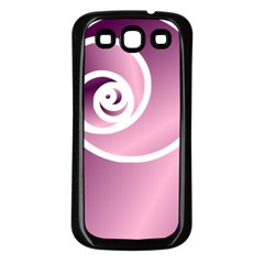 Rose  Samsung Galaxy S3 Back Case (black) by Jylart