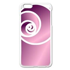 Rose  Apple Iphone 6 Plus/6s Plus Enamel White Case by Jylart