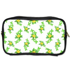 Airy Floral Pattern Toiletries Bags 2 Side by dflcprints