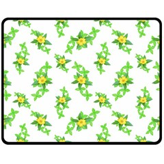 Airy Floral Pattern Double Sided Fleece Blanket (medium)  by dflcprints
