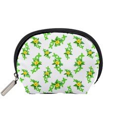 Airy Floral Pattern Accessory Pouches (small)  by dflcprints