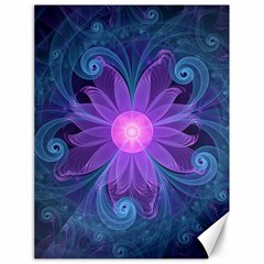 Blown Glass Flower Of An Electricblue Fractal Iris Canvas 18  X 24   by jayaprime