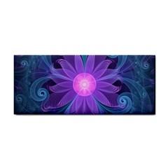 Blown Glass Flower Of An Electricblue Fractal Iris Hand Towel