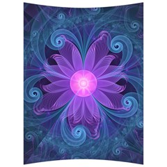 Blown Glass Flower Of An Electricblue Fractal Iris Back Support Cushion