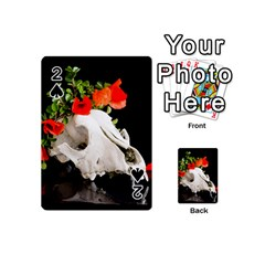 Animal Skull With A Wreath Of Wild Flower Playing Cards 54 (mini)