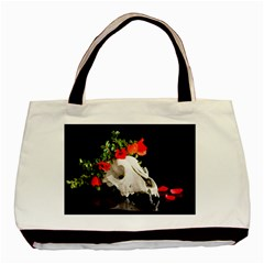 Animal Skull With A Wreath Of Wild Flower Basic Tote Bag by igorsin