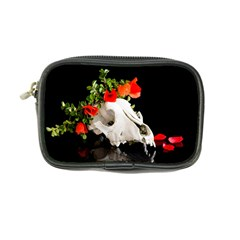 Animal Skull With A Wreath Of Wild Flower Coin Purse by igorsin