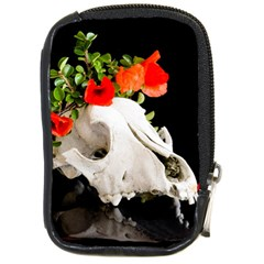 Animal Skull With A Wreath Of Wild Flower Compact Camera Leather Case by igorsin