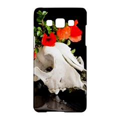 Animal Skull With A Wreath Of Wild Flower Samsung Galaxy A5 Hardshell Case  by igorsin