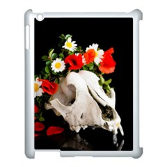 Animal Skull With A Wreath Of Wild Flower Apple Ipad 3/4 Case (white) by igorsin