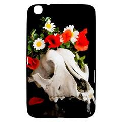 Animal Skull With A Wreath Of Wild Flower Samsung Galaxy Tab 3 (8 ) T3100 Hardshell Case  by igorsin