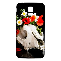 Animal Skull With A Wreath Of Wild Flower Samsung Galaxy S5 Back Case (white) by igorsin