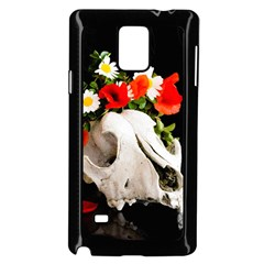 Animal Skull With A Wreath Of Wild Flower Samsung Galaxy Note 4 Case (black) by igorsin