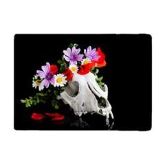 Animal Skull With A Wreath Of Wild Flower Apple Ipad Mini Flip Case by igorsin