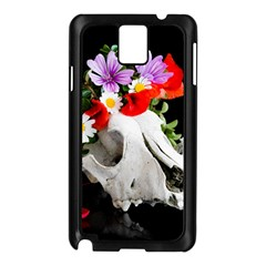 Animal Skull With A Wreath Of Wild Flower Samsung Galaxy Note 3 N9005 Case (black) by igorsin