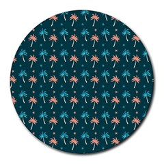 Summer Palms Pattern Round Mousepads by TastefulDesigns