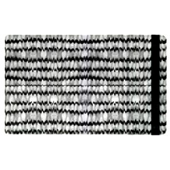 Abstract Wavy Black And White Pattern Apple Ipad Pro 9 7   Flip Case by dflcprints