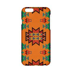 Misc Shapes On An Orange Background                              Apple Iphone 6/6s Black Enamel Case by LalyLauraFLM