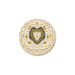 Hearts In A Field Of Fantasy Flowers In Bloom Golf Ball Marker (10 Pack) by pepitasart