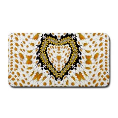 Hearts In A Field Of Fantasy Flowers In Bloom Medium Bar Mats by pepitasart