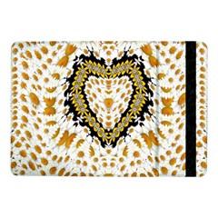 Hearts In A Field Of Fantasy Flowers In Bloom Samsung Galaxy Tab Pro 10 1  Flip Case by pepitasart