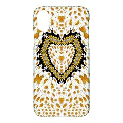 Hearts In A Field Of Fantasy Flowers In Bloom Apple Iphone X Hardshell Case by pepitasart