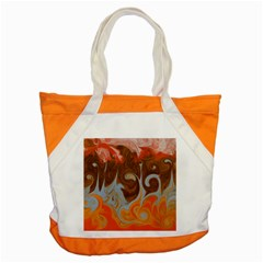 Fire And Water Accent Tote Bag by digitaldivadesigns