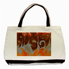 Fire And Water Basic Tote Bag (two Sides) by digitaldivadesigns