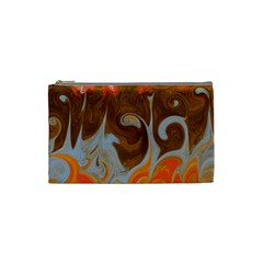 Fire And Water Cosmetic Bag (small)  by digitaldivadesigns