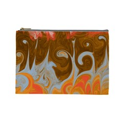 Fire And Water Cosmetic Bag (large)  by digitaldivadesigns